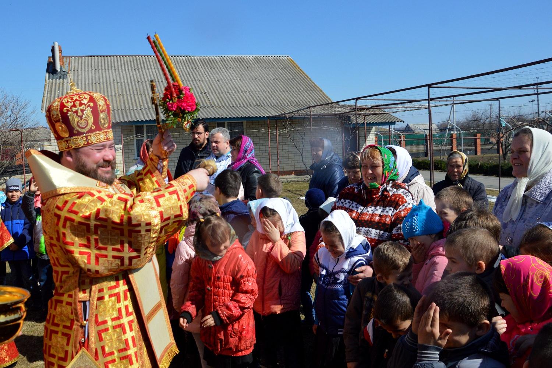 Преосвященный епископ Софроний совершил богослужение в селе Скородное