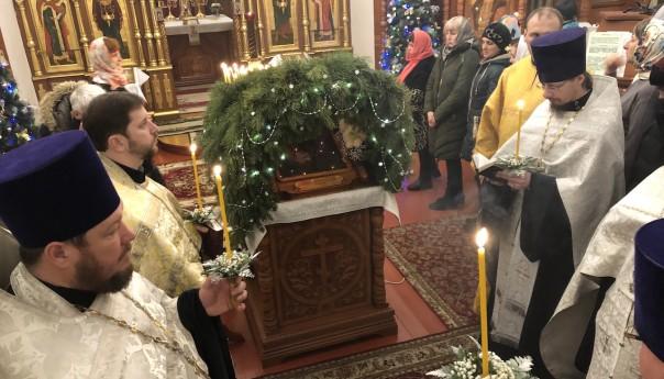 Рождественское богослужение в храме святого апостола Иакова
