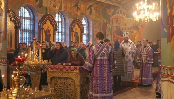 Архиерейское Всенощное бдение в Скородном