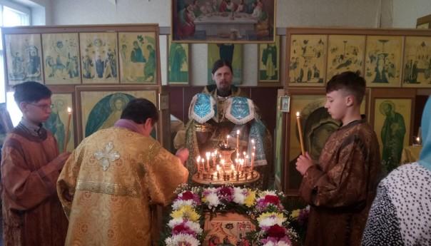 Первая Божественная литургия в Казанском приходе села Сергиевка
