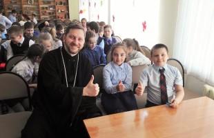 Беседа о Пасхе с учащимися Губкинского лицея