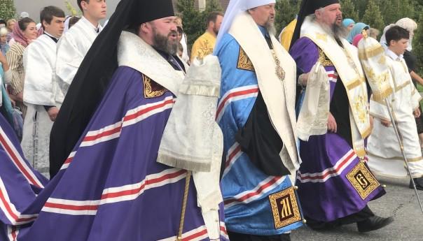 Крестный ход в канун престольного праздника Кафедрального собора