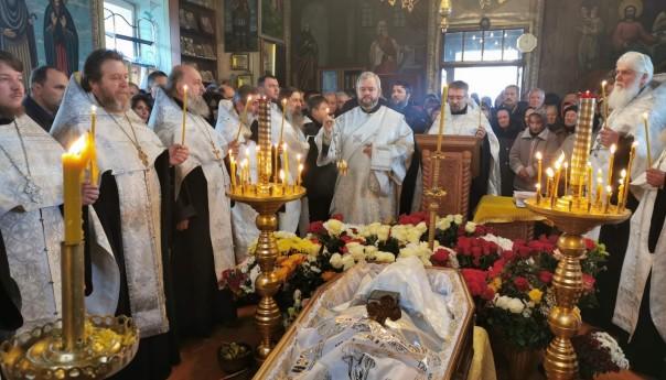 Отпевание и погребение протоиерея Леонида Гончарова
